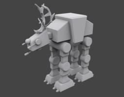 3d print model reindeer sw walker
