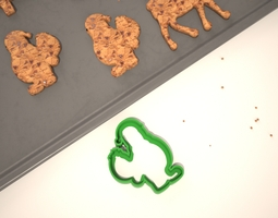cookie mold santa bringing gifts 3d printable model