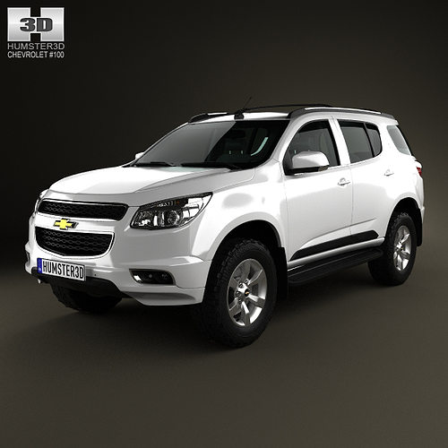Chevy Suv Models >> 3d Chevrolet Trailblazer 2012 Cgtrader