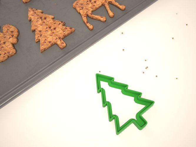 cookie mold christmas tree 3d model obj mtl stl 1