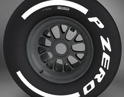 3D F1 tyre medium rear