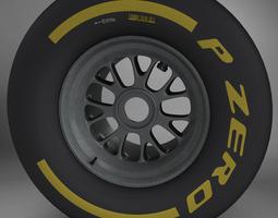 3d model f1 tyre soft rear