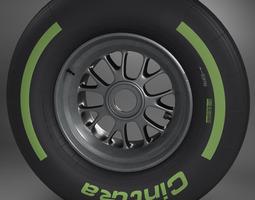 3d model f1 tyre intermediate front