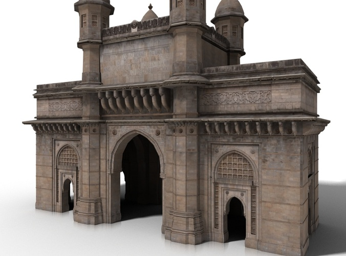the gateway of india 3d model max obj mtl fbx 1