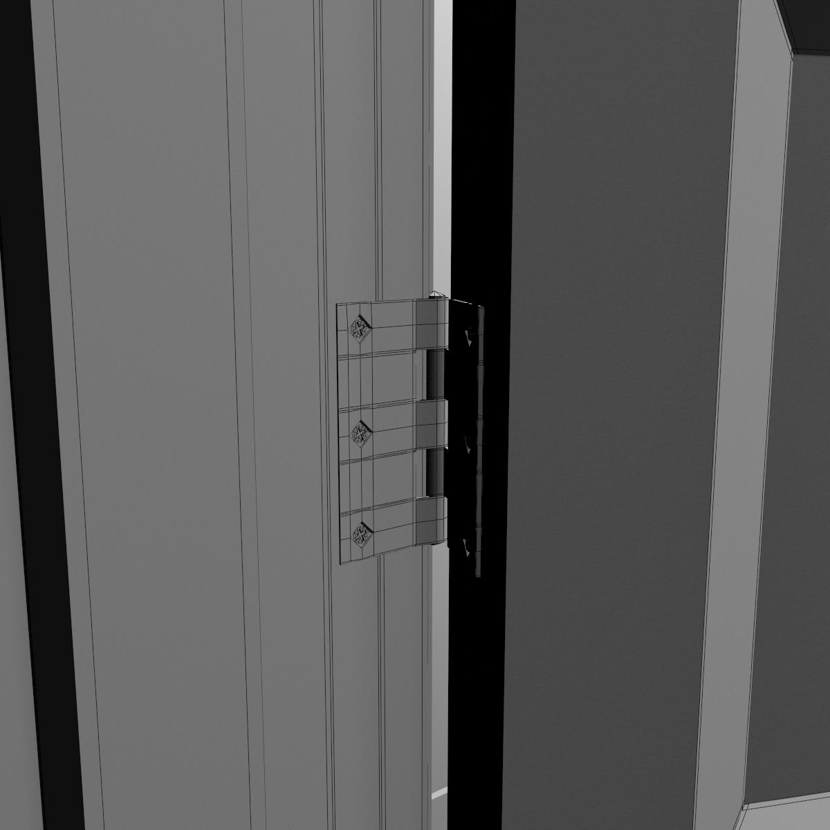 bathroom door 3d model max obj fbx mtl mat