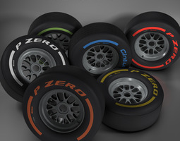3d f1 tire collection