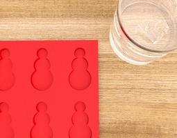 3d printable ice cube mold snowman