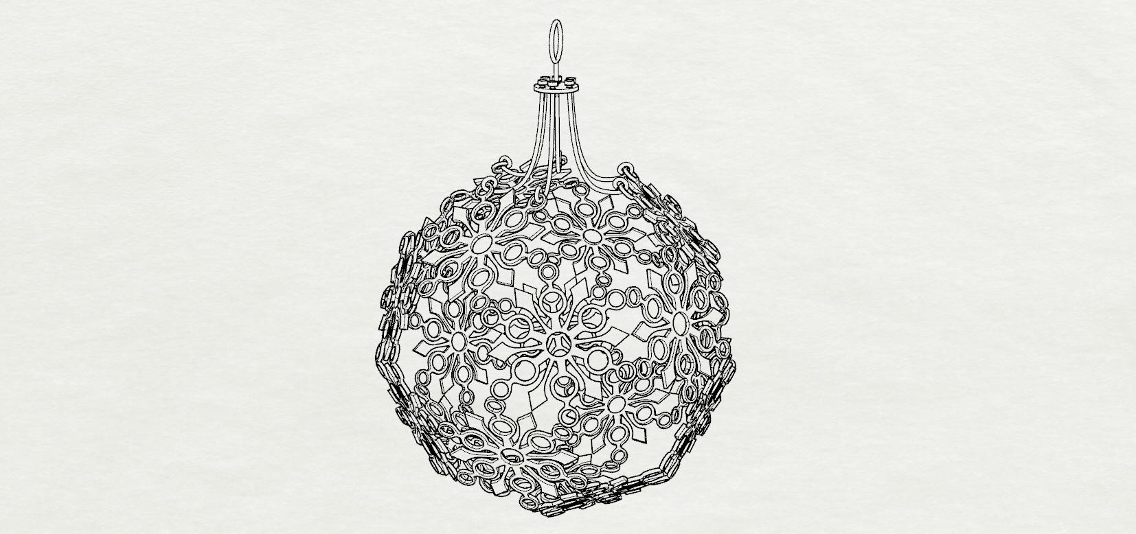 3D print model Snowflake Christmas Ornament | CGTrader