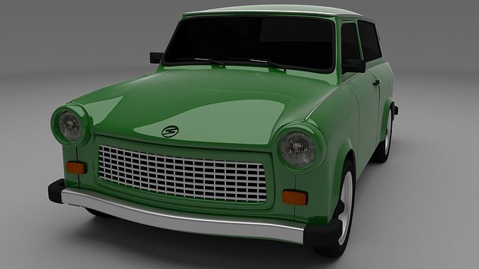 trabant 601 estate 3d model obj mtl blend dae 1