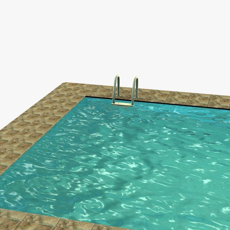 Low poly swimming pool | 3D model