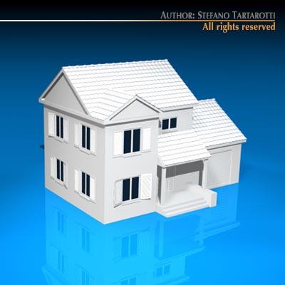 House mediterranean 3d model obj 3ds c4d dxf - Mediterrane mobel ...