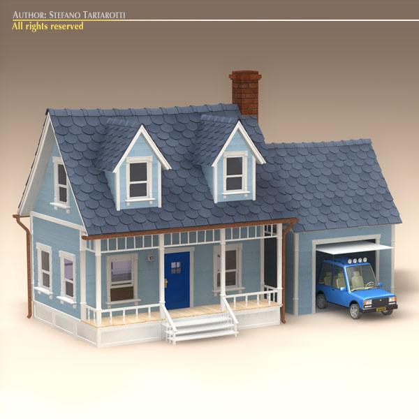 D Model Cartoon House CGTrader - Big cartoon house