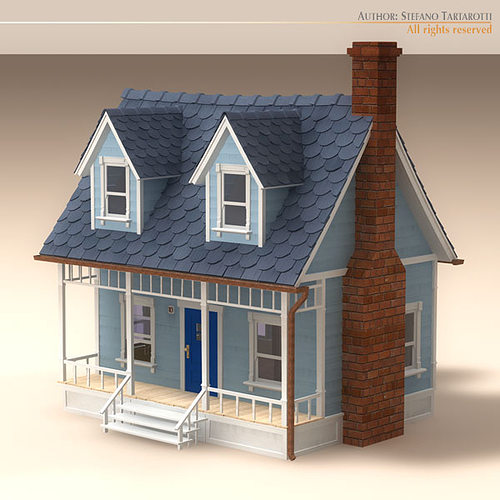 3d model cartoon house cgtrader for Exterior 3d model