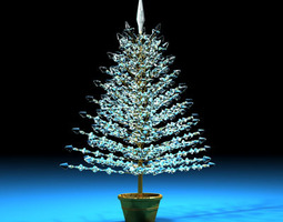 3D Christmas crystal tree