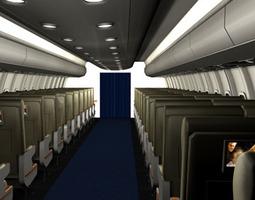 3D model Interior plane 2