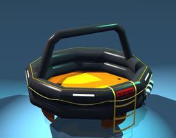 3d model rescue liferaft set