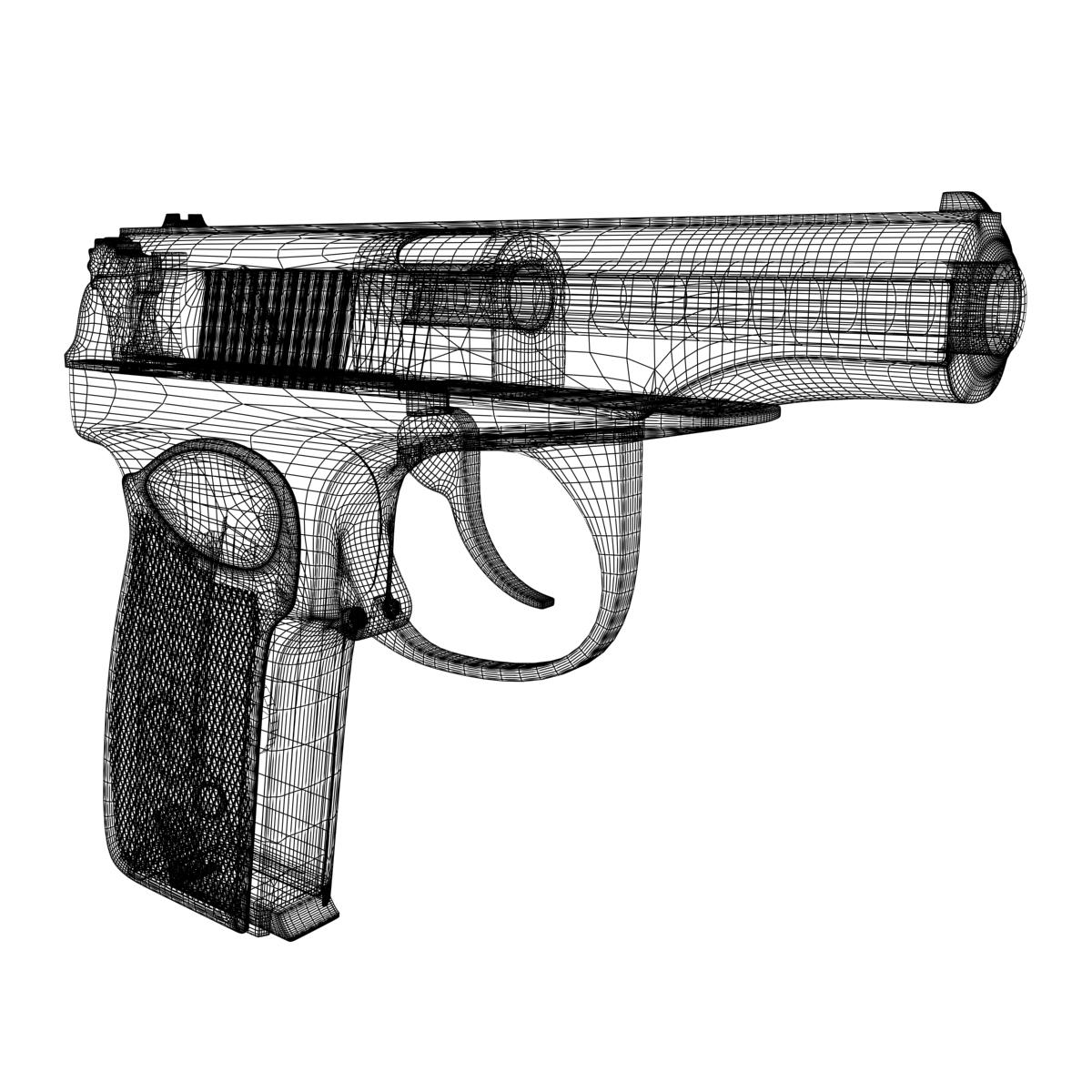 3d Gun Image 3d Home Architect: Gun PM 3D Model MAX OBJ 3DS FBX DAE W3D
