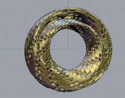 3d printable model klein surface holes