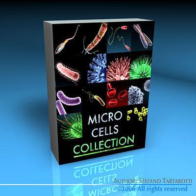 micro cells models collection 3d model obj mtl 3ds fbx c4d dxf dae 1