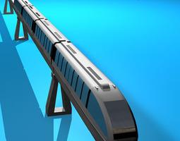 3D model Monorail train