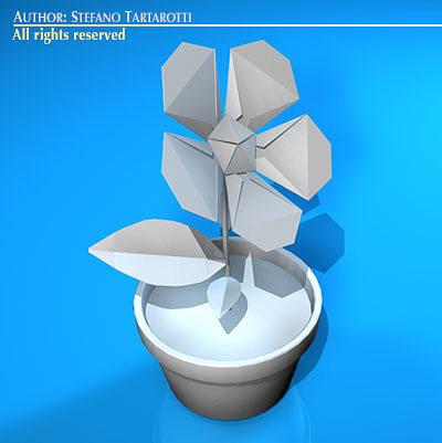 Paper flower 3d model cgtrader paper flower 3d model obj mtl 3ds c4d dxf 1 mightylinksfo