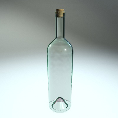 Best Buy Military Discount >> Clear Glass Bottle 3D | CGTrader
