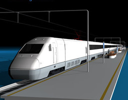3D model High speed train