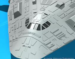 sci-fi space shuttle 3d