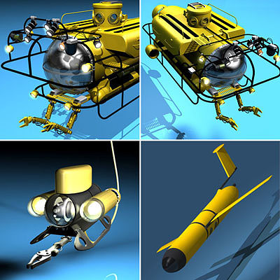 submarine collection 3d model  1