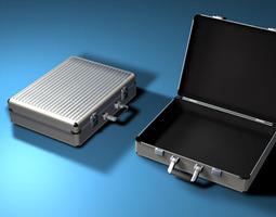 aluminium suitcase 3d model