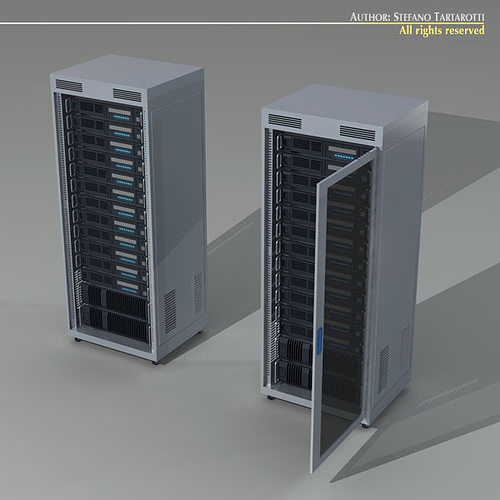 server rack 3d model obj mtl 3ds c4d dxf 1