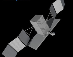 4 Satellites collection 3D