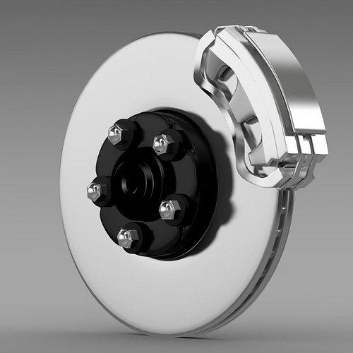 disc brake 3d model max obj mtl 3ds fbx c4d lwo lw lws 1