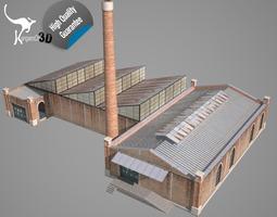old factory realtime 3d asset
