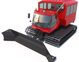 PistenBully 600 with passengers cab 3D Model