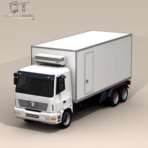 3d fridge truck cgtrader