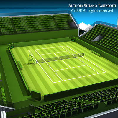 tennis court 3d model obj mtl 3ds c4d dxf 1