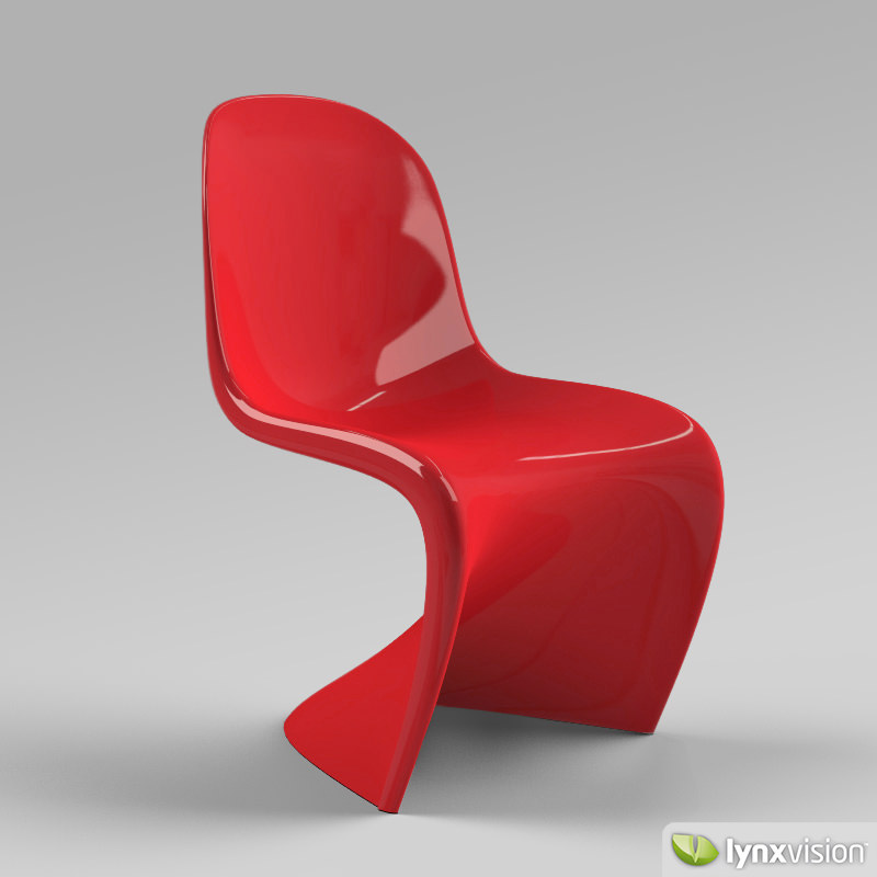 panton chair 3d model max obj 3ds fbx mtl. Black Bedroom Furniture Sets. Home Design Ideas