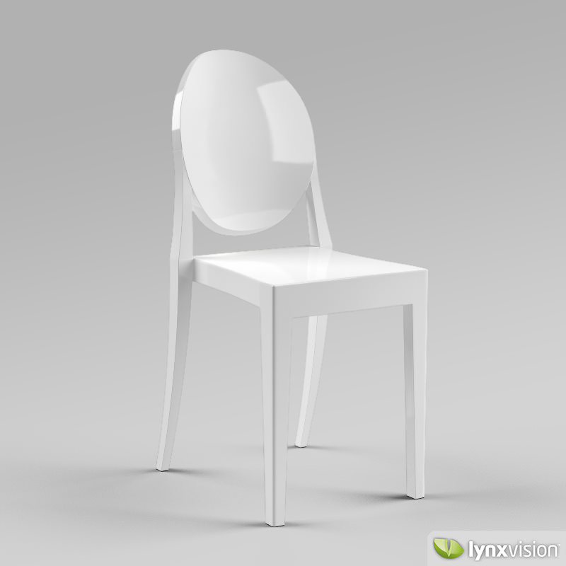 ... Victoria Ghost Chair By Philippe Starck 3d Model Max Obj 3ds Fbx Mtl 2  ...