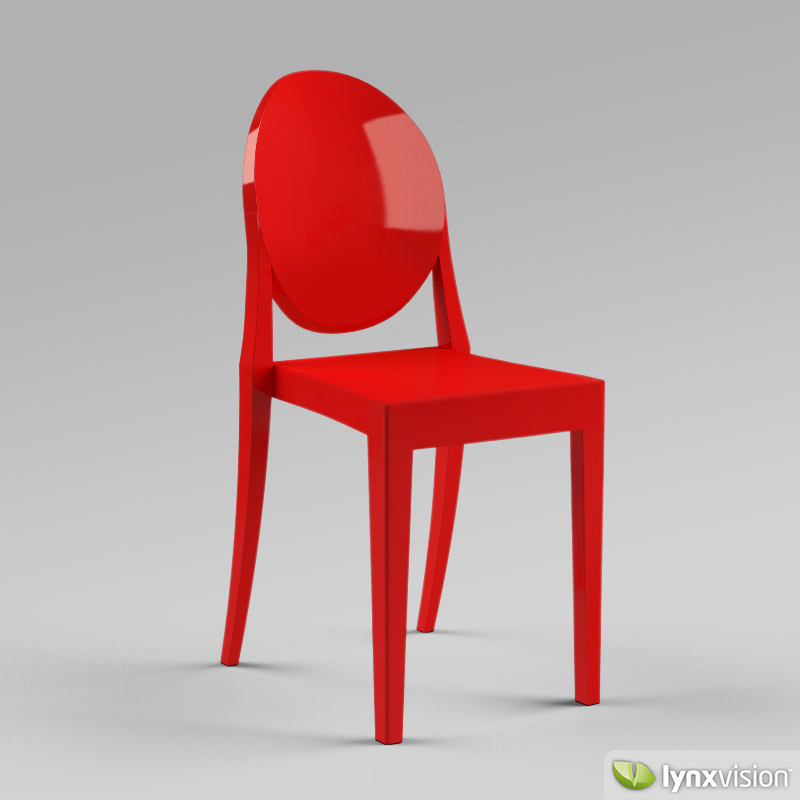 3d model victoria ghost chair by philippe starck