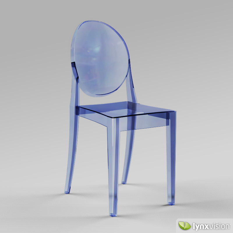 victoria ghost chair by philippe starck 3d model max obj 3ds fbx mtl cgtrader. Black Bedroom Furniture Sets. Home Design Ideas