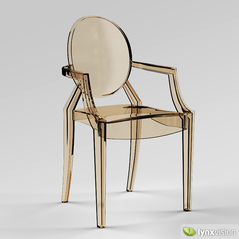 Louis Ghost Armchair by Philippe Starck 3D Model MAX OBJ ...