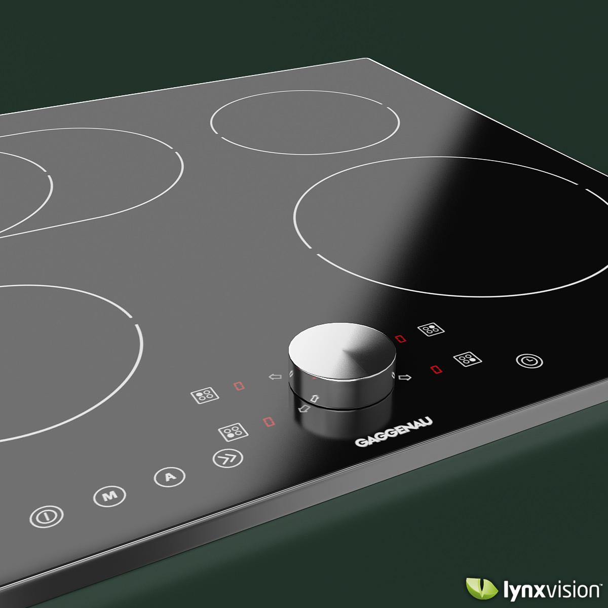gaggenau induction cooktop 3d model max obj fbx mtl 2