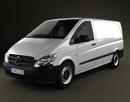 3D Mercedes-Benz Vito W639 PanelVan Long