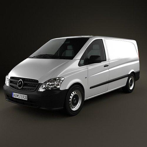 mercedes-benz vito w639 panelvan long 3d model max obj mtl 3ds fbx c4d lwo lw lws 1