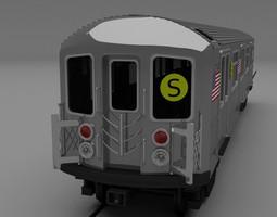 new york subway train 3d model