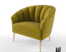 Cabot wrenn mood chair 3d model max obj fbx for Chair 3d model maya