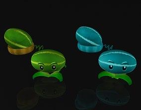 Creative Watermelon Plants 3D asset