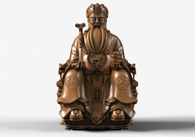 Top Tu Di Gong Buddha Statue 3D | CGTrader DE24