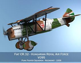 3D model Fiat CR 32 - Hungarian Royal Air Force - V095